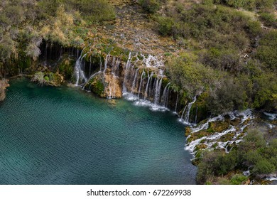 Waterfalls in Huancaya, Peru
