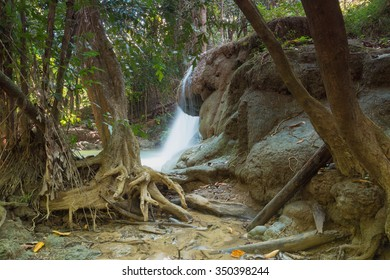 Waterfalls Huay Mae Kamin in deep forest  of national park ,Thailand