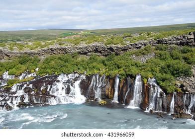 Waterfalls of Iceland, Hraunfossar (Isl. Hraunfossar)