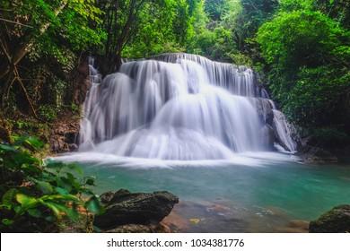 Waterfalls at Kanchanaburi, Thailand