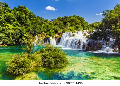 Waterfalls Krka, National Park, Dalmatia, Croatia