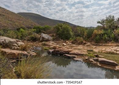 Waterfalls of the Leba mountain range. Lubango.