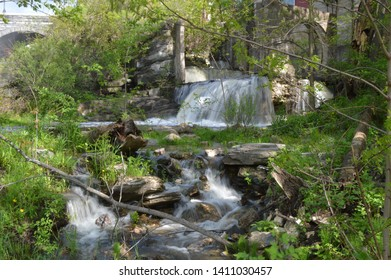 waterfalls at Middlebury Falls in Vermont