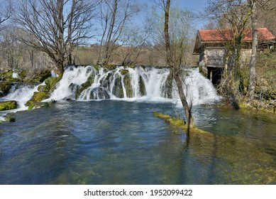 WATERFALLS ON THE MREZNICA RIVER IN CROTIA