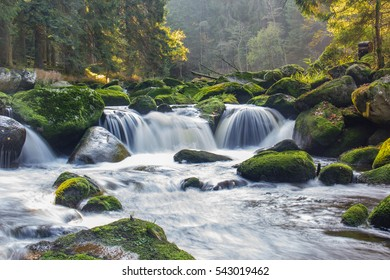 Waterfalls on river Vydra