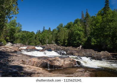 Waterfalls on Sand River in northern Ontario