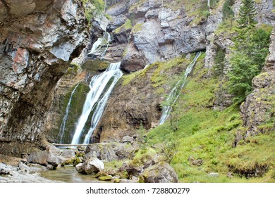 waterfalls of the Ordesa and Monte Lost National Park, Spain,peace, calm, serenity, harmony, fullness, well-being, nature, natural, contemplate, meditate, breathe, grow, happiness, tranquility,