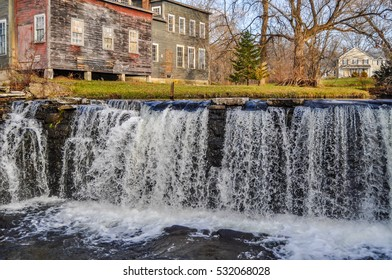The waterfalls of Otter Creek in Brandon, Vermont.