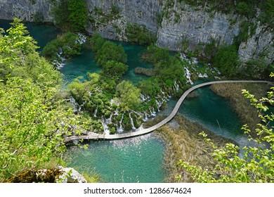 Waterfalls at Plitvice Lakes National Park ,Croatia UNESCO World Heritage