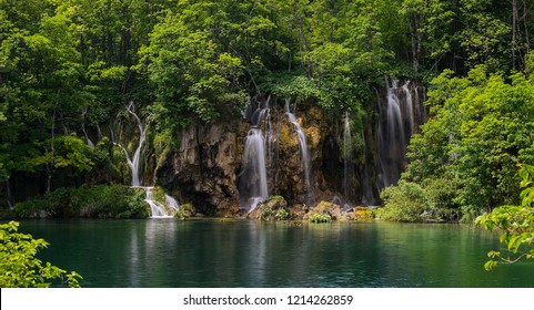 Waterfalls in Plitvickie Lakes