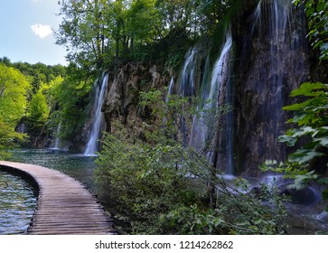 Waterfalls in Plitvickie Lakes