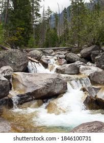 Waterfalls at stream Studeny potok in High Tatras mountains, Slovakia - Shutterstock ID 1846100731
