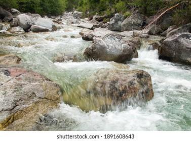 Waterfalls at stream Studeny potok in High Tatras mountains, Slovakia - Shutterstock ID 1891608643