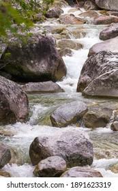 Waterfalls at stream Studeny potok in High Tatras mountains, Slovakia - Shutterstock ID 1891623319
