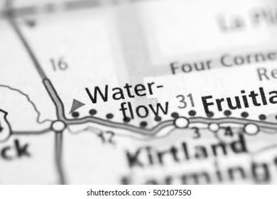 Waterflow. New Mexico. USA.