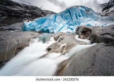 Waterflow from the Nigardsbreen glacier in Norway