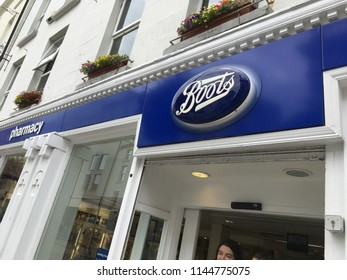 Waterford, Ireland, July 17, 2018: Boots Drug Store