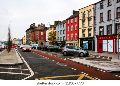 WATERFORD, IRELAND - NOVEMBER 29, 2014: Cityscape during the day in Waterford, Ireland. It is the oldest city in the country where located many restaurants, shops, bars. Cloudy sky