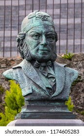 Waterford, Republic of Ireland - August 14th 2018: A monument dedicated to famous composer Vincent Wallace, located at the Theatre Royal in the city of Waterford, Republic of Ireland.