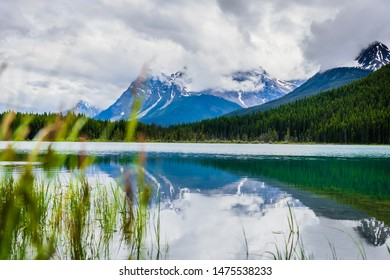 Waterfowl Lake in Banff National Park