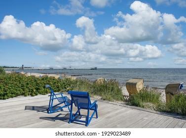 Wasserfront und Strand Kellenhusen am Ostsee, Schleswig-Holstein, Deutschland