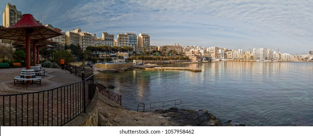 Waterfront buildings in Sliema-Malta