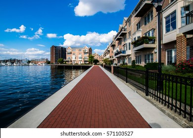 Waterfront in Canton in Baltimore, Maryland