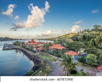 Waterfront in Castries, St Lucia