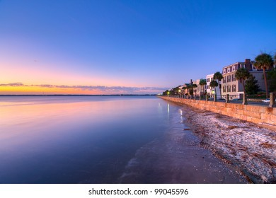 The Waterfront in Charleston, SC During a Summer Sunrise