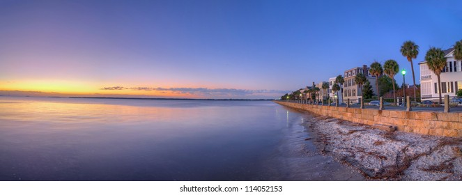 The Waterfront in Charleston, SC During a Sunrise