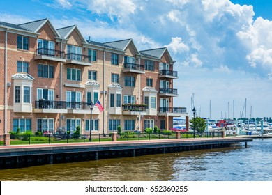 Waterfront condominiums in Canton, Baltimore, Maryland.