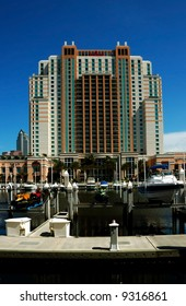 Waterfront hotel in the Convention Center area in Tampa, Florida, USA.