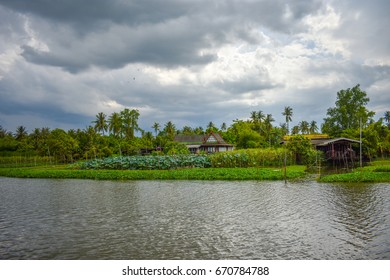 Waterfront house in Nakhon Pathom Thailand.