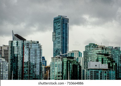 Waterfront living in Vancouver - high risers and glass around Coal Harbor