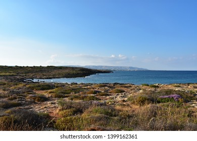 Waterfront of Nature Reserve Oriented Fauna Oasis of Vendicari, Syracuse, Sicily, Italy