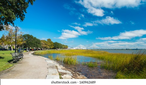 Waterfront park in downtown Charleston, South Carolina.