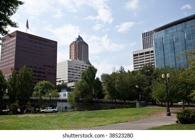 Waterfront Park is a park located on the west bank of the Willamette River in downtown Portland, Oregon.