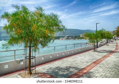 Waterfront quai of the town of Herceg Novi, Montenegro