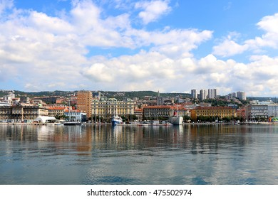 Waterfront in Rijeka, Croatia.