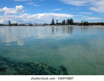 Waterfront scene of The Entrance, NSW Central Coast Australia.