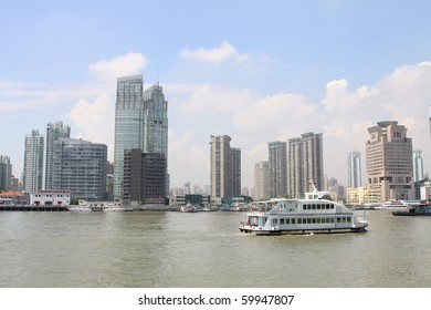 waterfront towers in shanghai, china