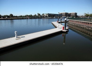 Waterfront view West at Stockton California
