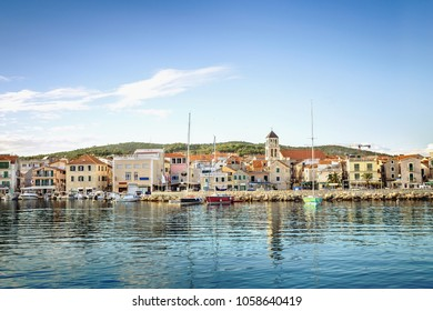 Waterfront of Vodice, Dalmatia, Croatia