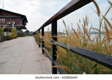 Waterfront walkway, Chiang Kan district, Loei province,Thailand
