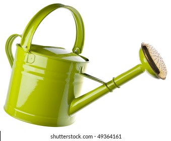 Watering can isolated on white.