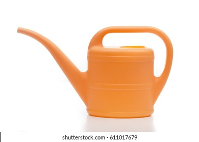Watering can on the white background
