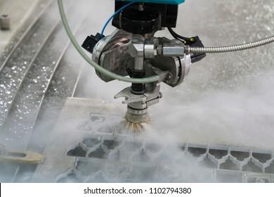 waterjet metal cutting by cnc programing
