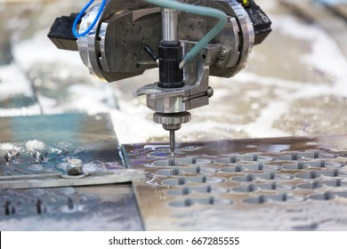 waterjet metal cutting by cnc programing, cutting process for high accuracy part, non heat generate cutting process