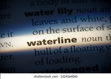 waterline word in a dictionary. waterline concept, definition.