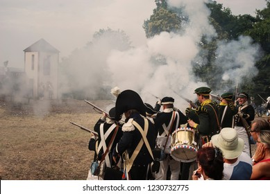 WATERLOO - Belgium - 06-21-2010 : History enthusiasts from 24 countries take part in the re-enactment of the battle of Waterloo that in 1815 ended Napoleon's imperial dream